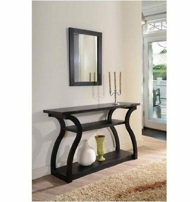 Furniture of America Sara Black Finish Console Table