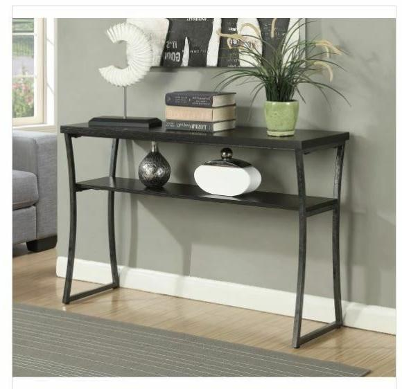 Industrial Console Table Japonica Metal Espresso Modern Sofa