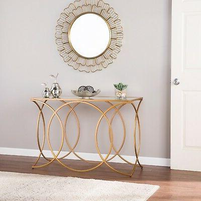JET34584 GOLD / MIRRORED TOP CONSOLE  TABLE