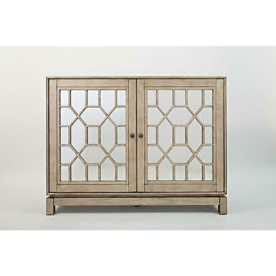 Jofran 1550-50 Casa Bella 50In Mirrored Console-Vintage Silv