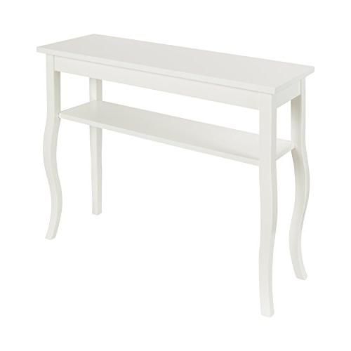 Kate and Laurel Lillian Wood Console Table with Curved Legs
