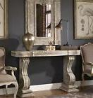 LARGE VINTAGE CARVED STYLE CONSOLE SOFA TABLE GRAY STONE FIN