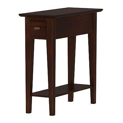 Leick 10071-CH Chairside/Recliner End Table