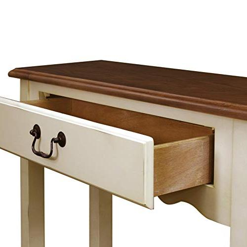 Leick Hall Console Table, Ivory