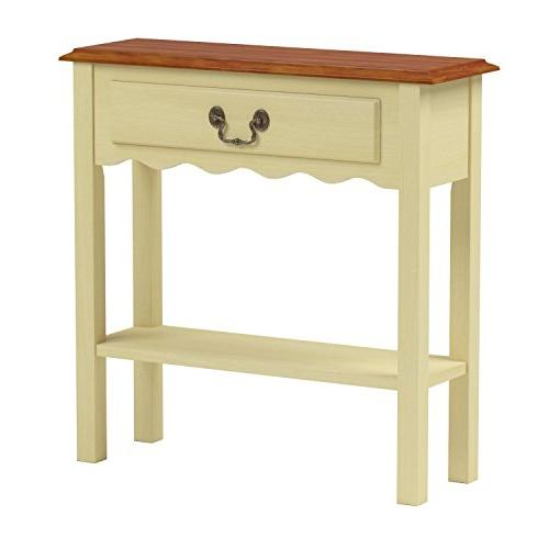 Leick Hall Table, Ivory Finish