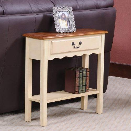 Leick Table, Ivory Finish