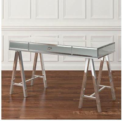 Mirrored Desk Console Writing Vanity Drawer