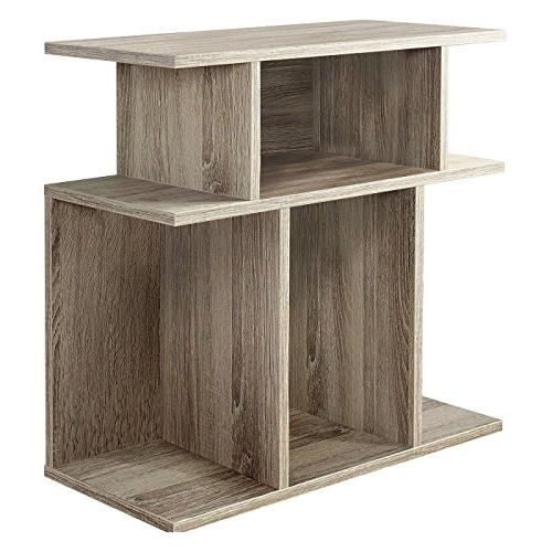 Monarch Specialties I 2476, Accent Side Table, Dark Taupe Re