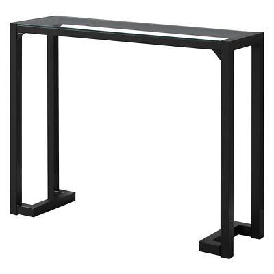 Monarch Specialties Tempered Glass Top Rectangular Console T