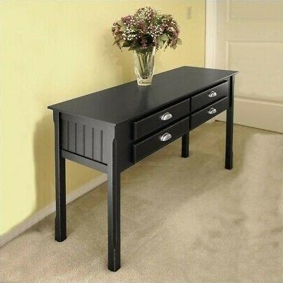 Winsome Wood Timber Hall - Console Table with Drawers