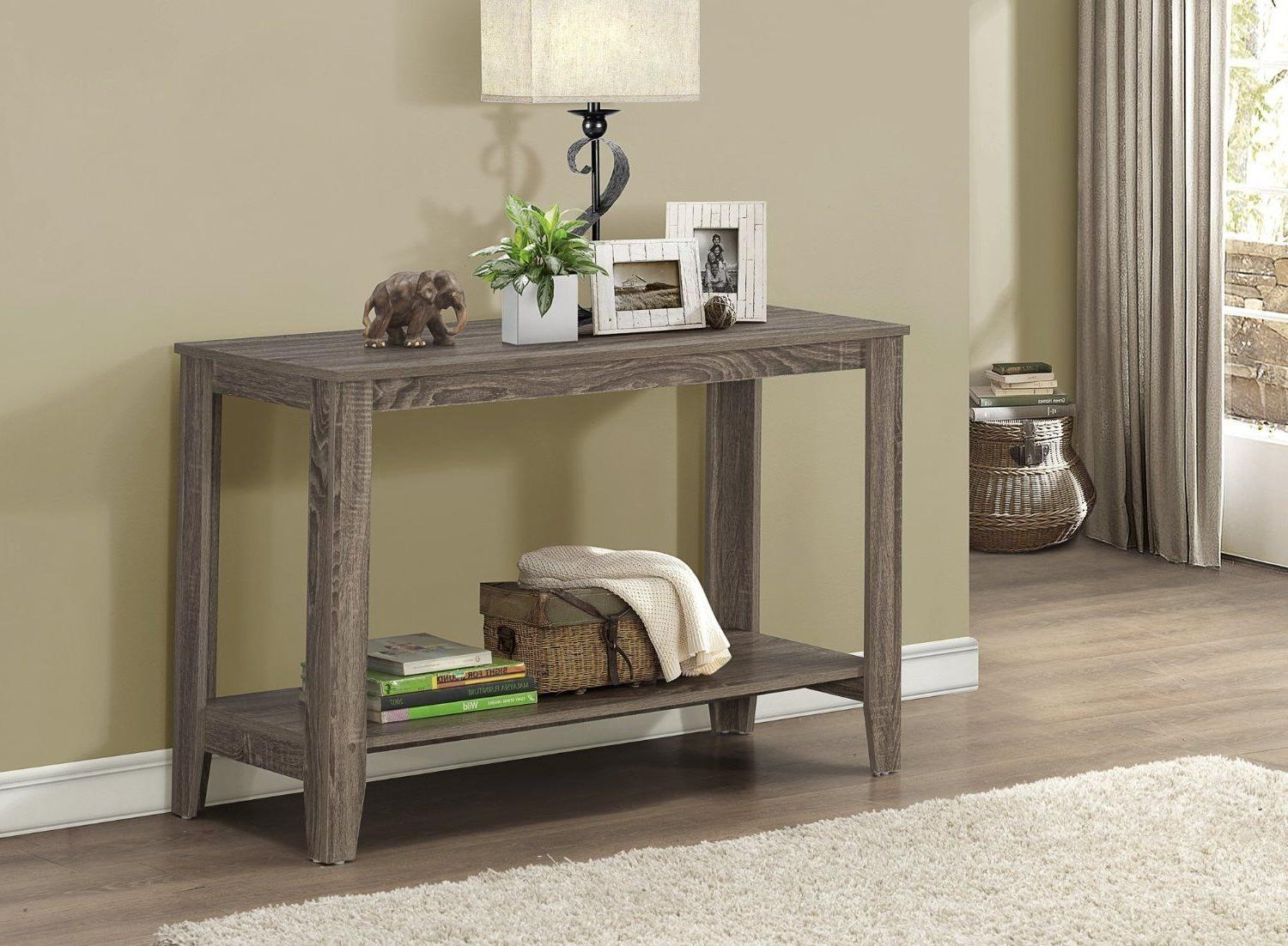 Rustic Console Table Sofa Wood Storage Accent Entryway Recla