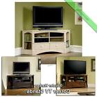 """Corner TV Stand Wood 60"""" Console Table Sauder Credenza Stand"""