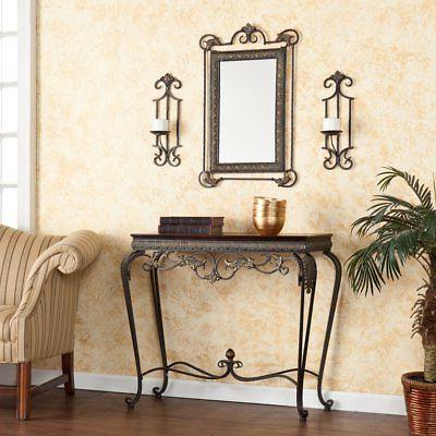 Southern Enterprises Adisa Sconce / Mirror / Console Table 4