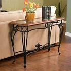 Southern Enterprises Prentice Sofa Console Table, Dark Cherr