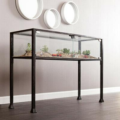Southern Enterprises Stanii Showcase Console Table, Black W