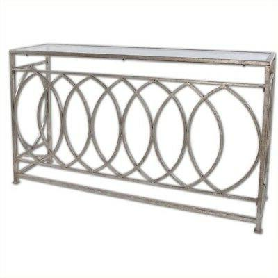 Uttermost 24306 Aniya Glass Top Console Table