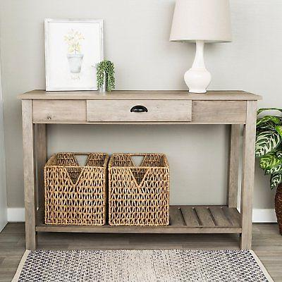 WE Furniture 48-inch Country Style Entry Console Table