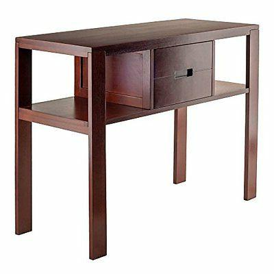 Winsome Wood 94743 Bora Console Table, Walnut NEW