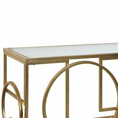 Abstract Shapes Gold Table Mid