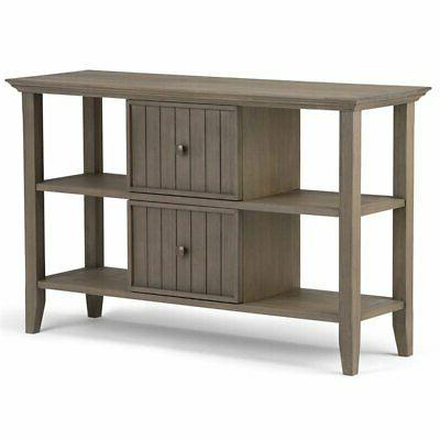 acadian console table farmhouse gray