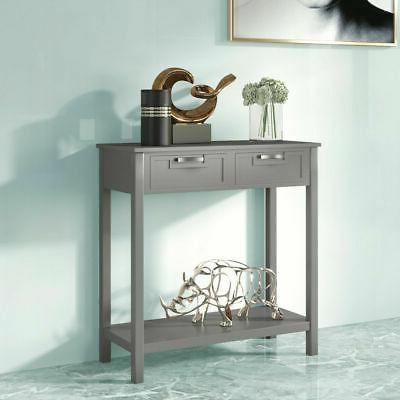 Accent Console Table Sofa Foyer Table Shelf W/2