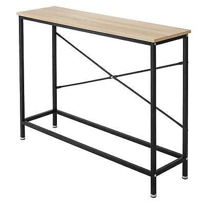 Wood Table Modern Sofa Accent Stand Hall
