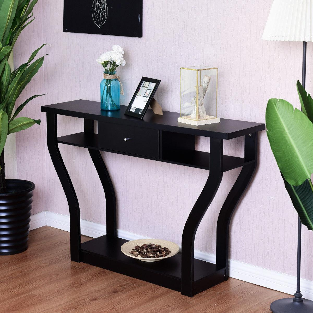 Accent Console Table Sofa Entryway Hallway Hall Furniture