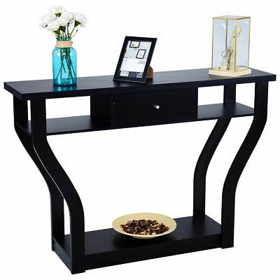 accent console table modern sofa entryway hallway