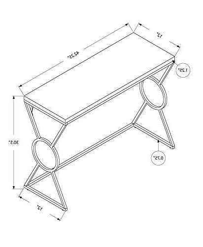 Monarch Specialties 42 Accent Table in White and Finish