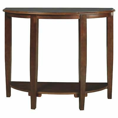 altonwood brown console sofa table brown casual