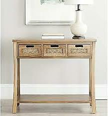 Safavieh American Homes Collection Autumn Oak 3-Drawer Conso