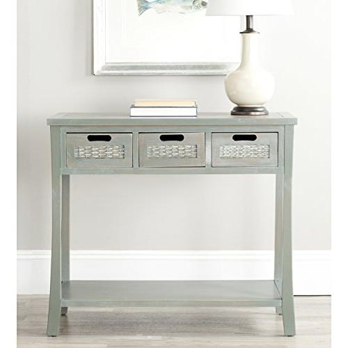 Autumn Blue/ Grey 3-drawer Console Table