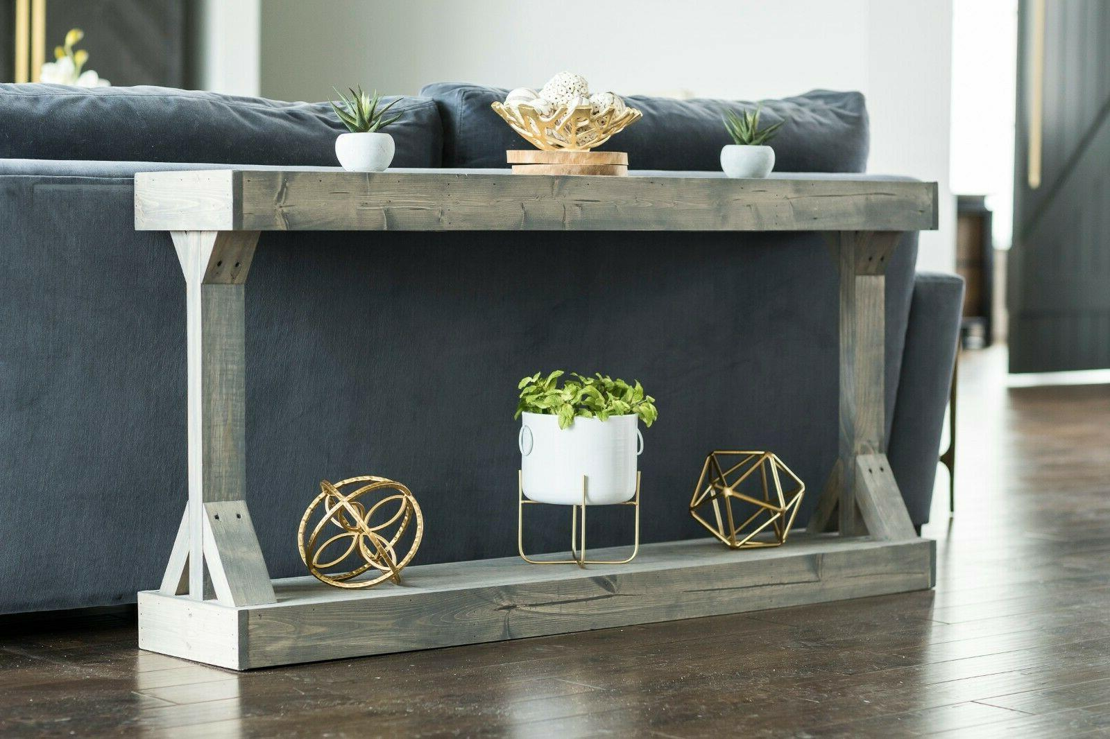 Barb Console Solid Wood Hutson Gray