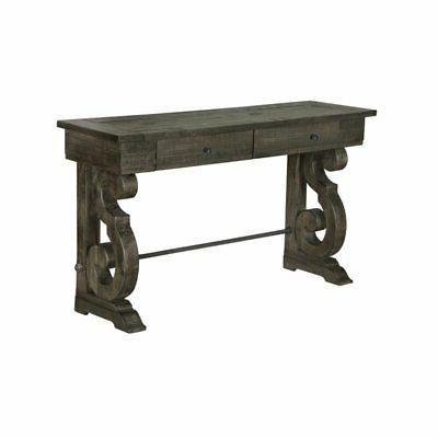 Magnussen Bellamy Console Table in Weathered Pine