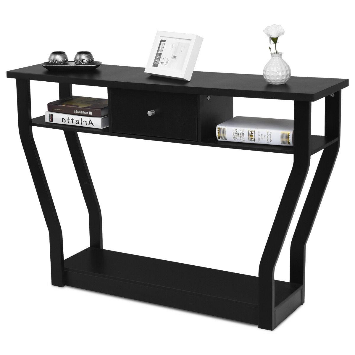 Black Table Modern Entryway Hall