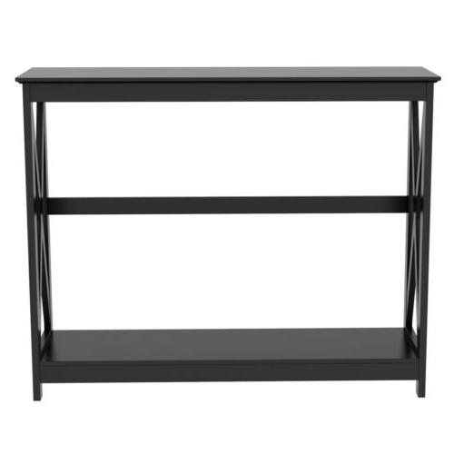 Console Table Side Sofa Entryway Hall Display Storage Shelf