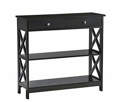 Black Sofa Entry with Shelf /