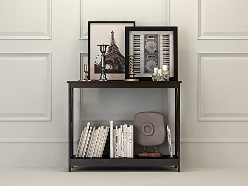 Black 3-Tier Occasional Console Bookshelf