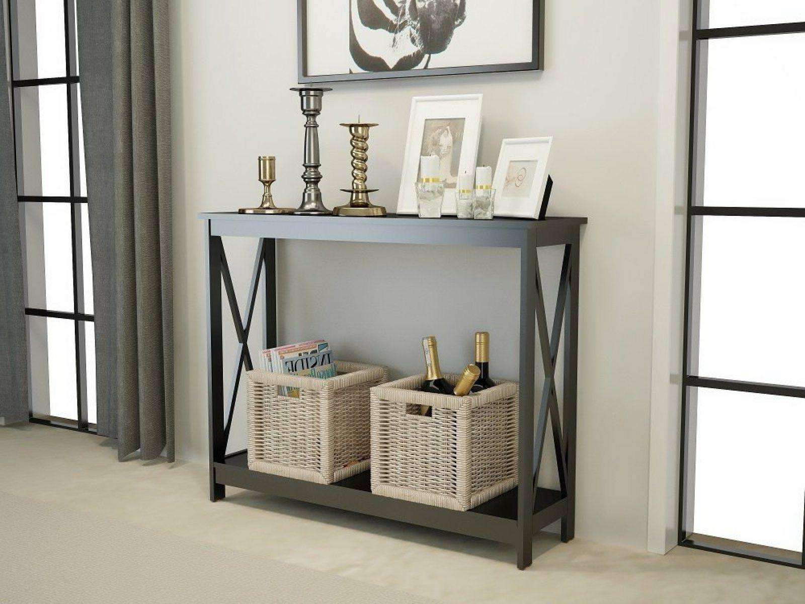 black finish 3 tier occasional