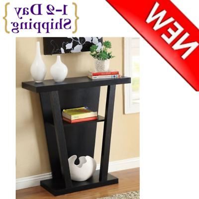 Black Finish Console Sofa Entry Table