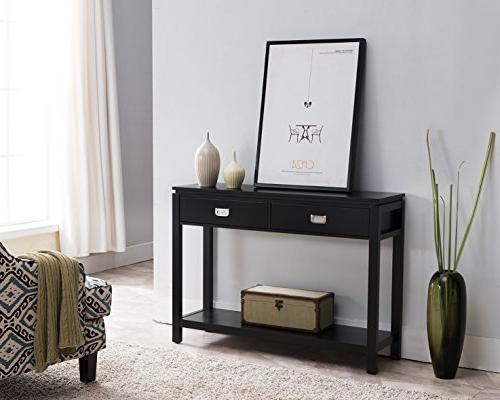 black finish wood occasional entryway