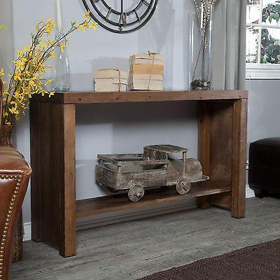 Brown Rustic Console Entryway Living Furniture