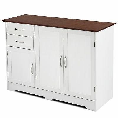 Buffet Cabinet Table Kitchen Sideboardd Home Furni W/2 Drawers