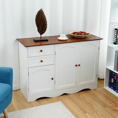 Buffet Console Table Kitchen Sideboardd Furni Drawers