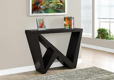 cappuccino hall console accent table