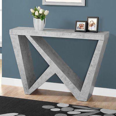 cement look hall console table