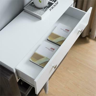 Furniture of Contemporary Wood in Glossy White