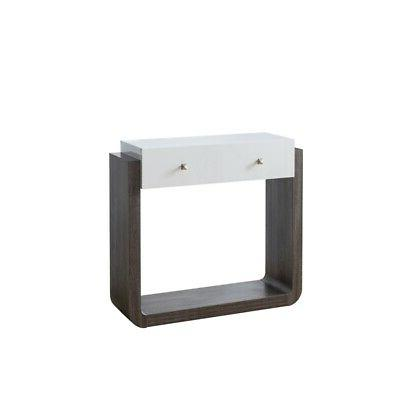 cerronis contemporary wood console table in glossy