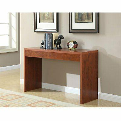 cherry finish sofa table modern living room