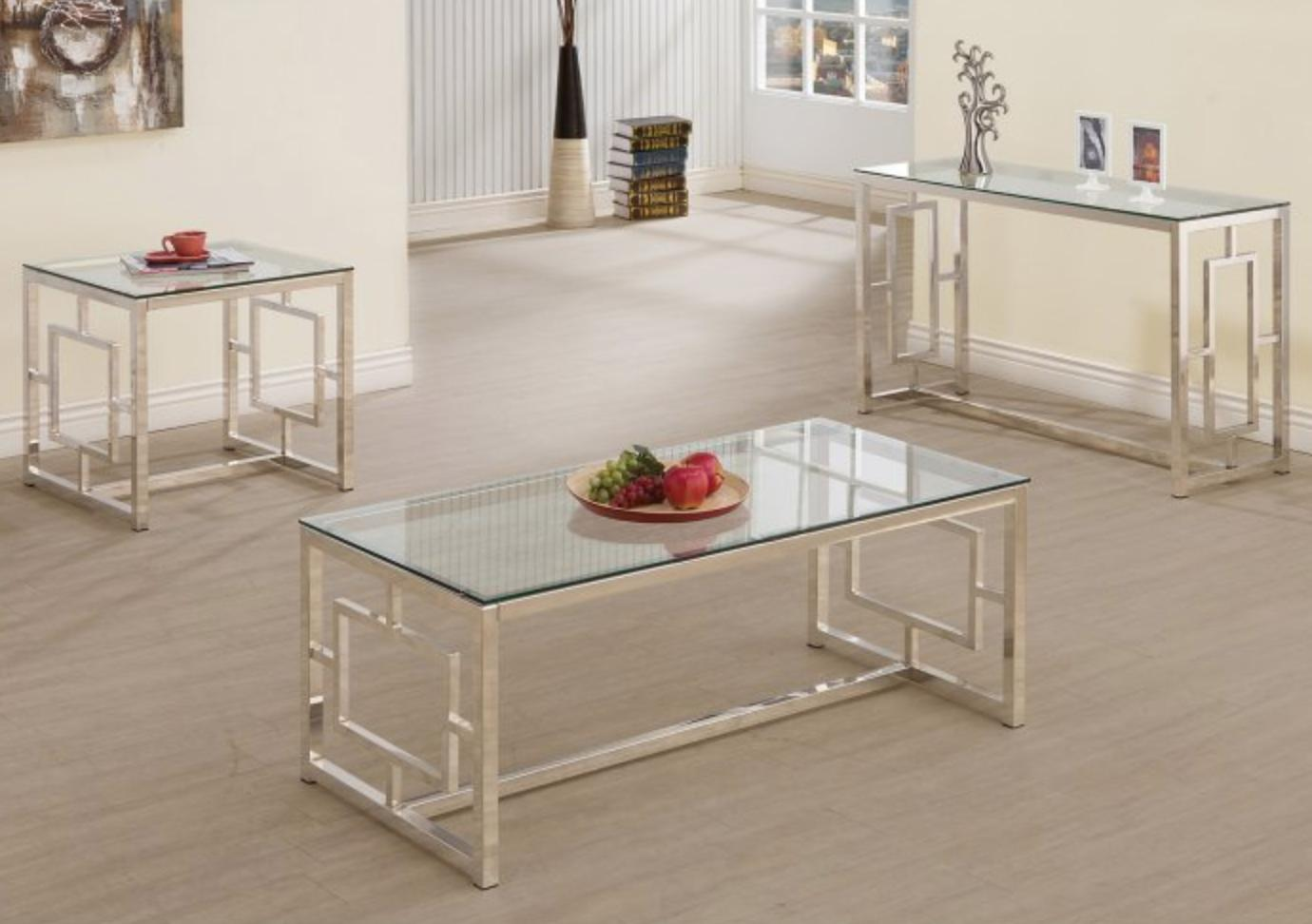 Chrome Glass Top Hall Room Furniture